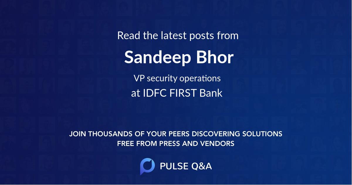 Sandeep Bhor