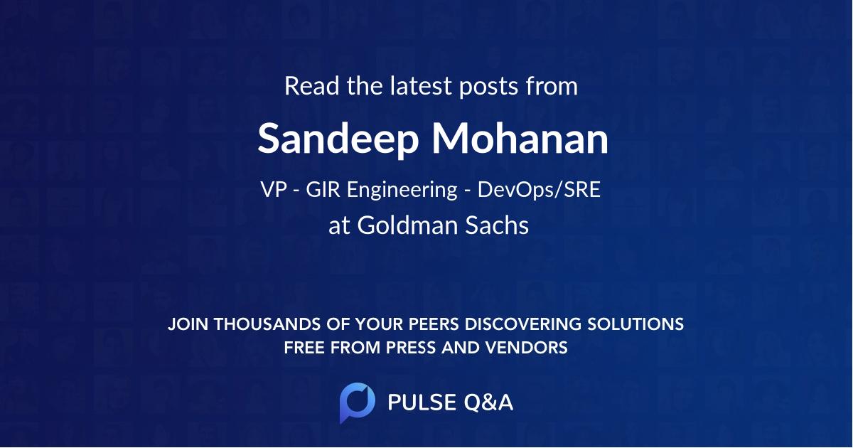 Sandeep Mohanan