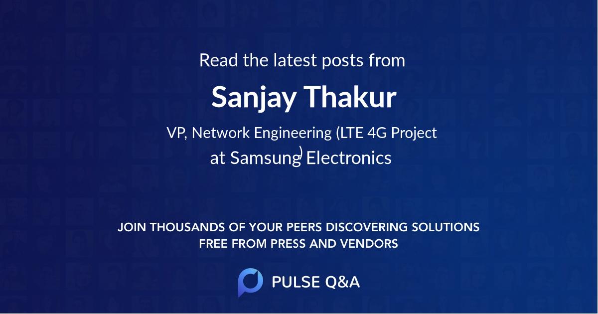 Sanjay Thakur