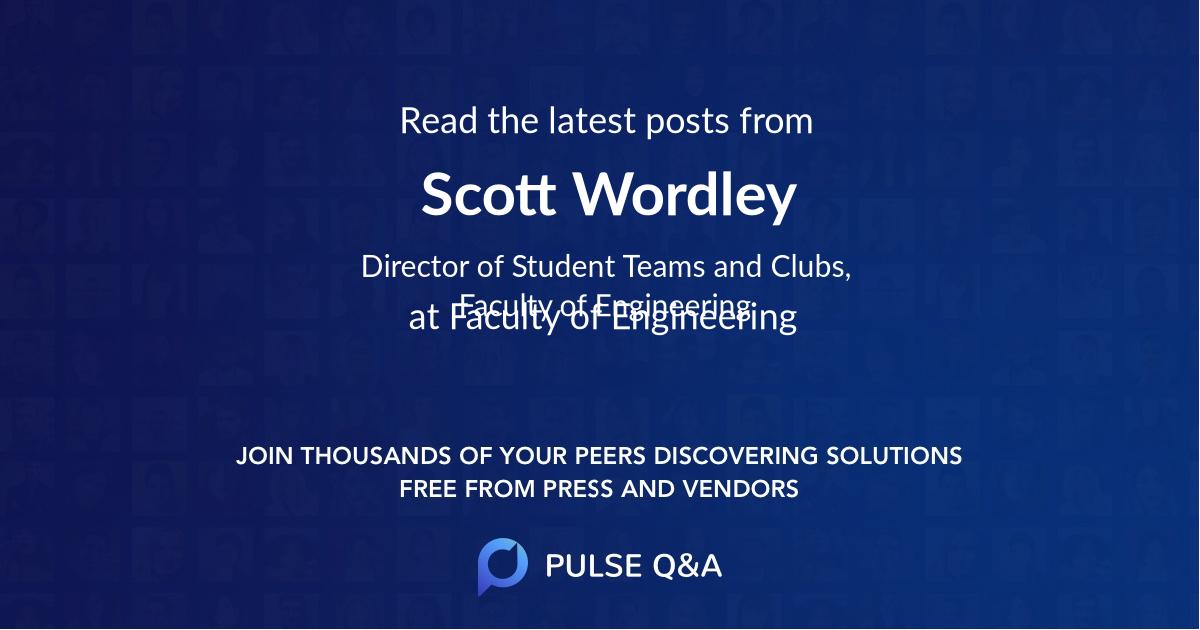 Scott Wordley