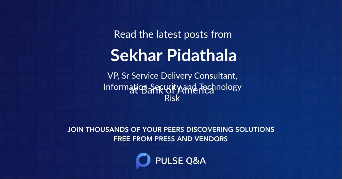 Sekhar Pidathala
