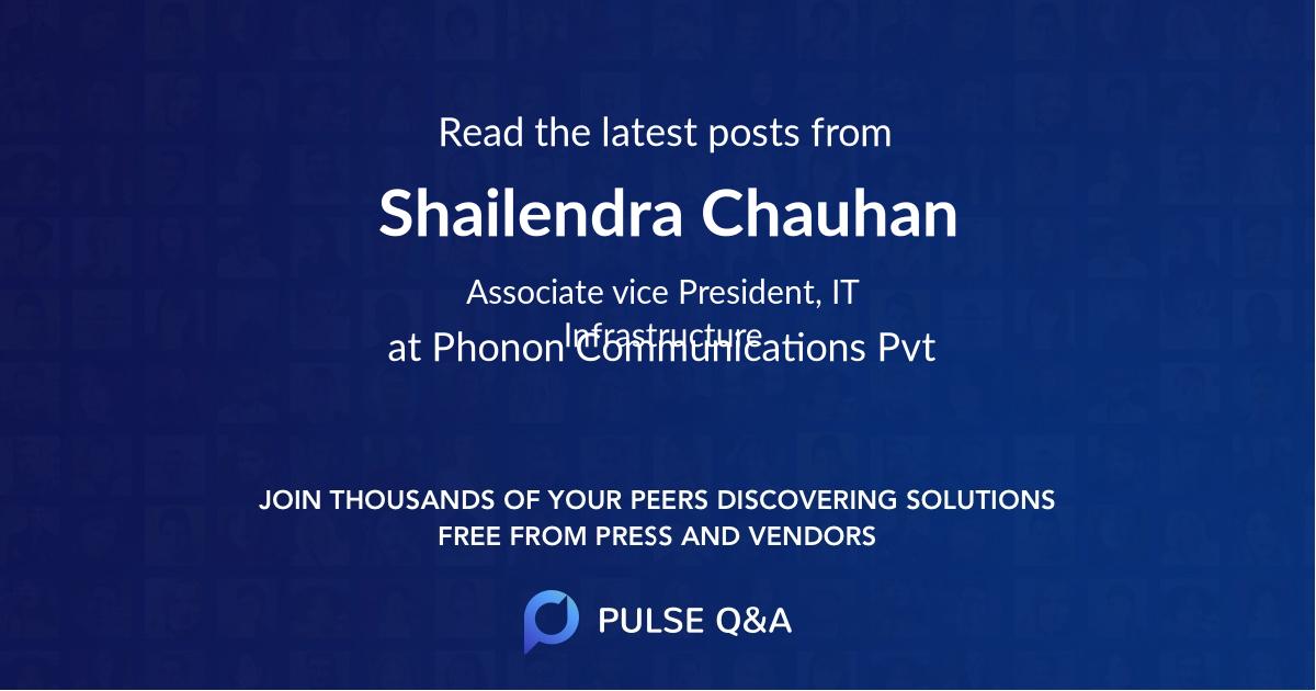 Shailendra Chauhan