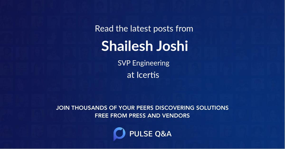 Shailesh Joshi