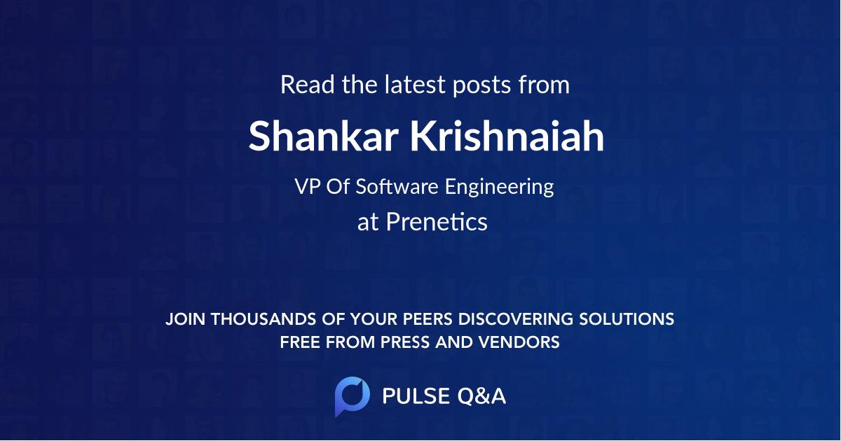 Shankar Krishnaiah