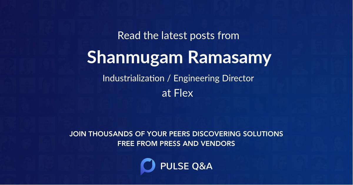 Shanmugam Ramasamy