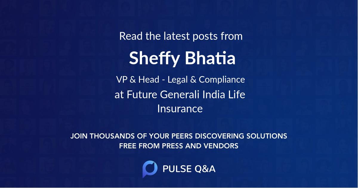 Sheffy Bhatia