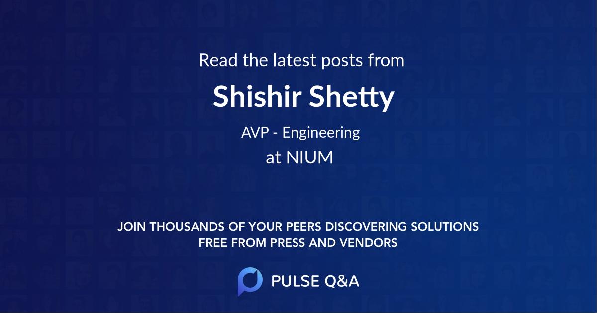Shishir Shetty
