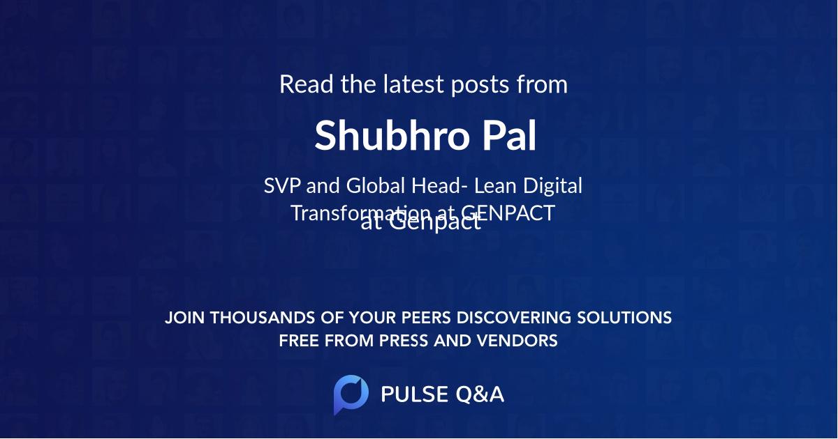 Shubhro Pal
