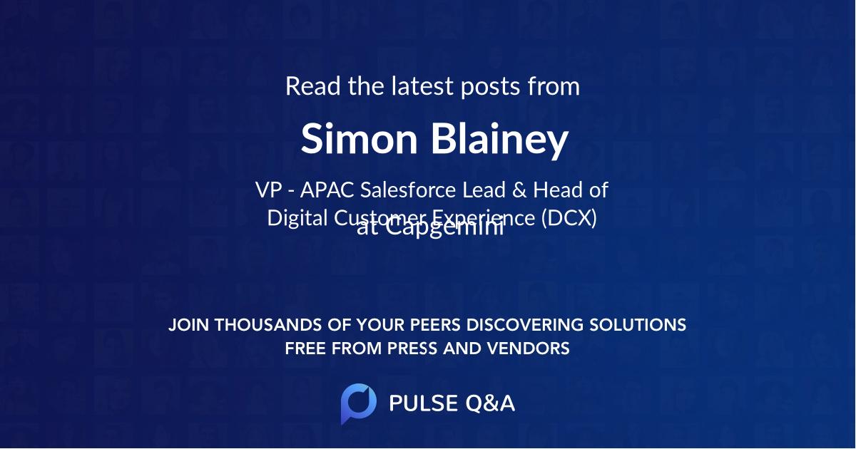 Simon Blainey