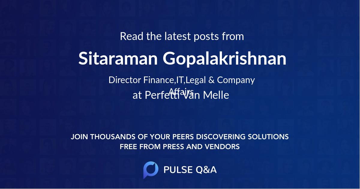 Sitaraman Gopalakrishnan