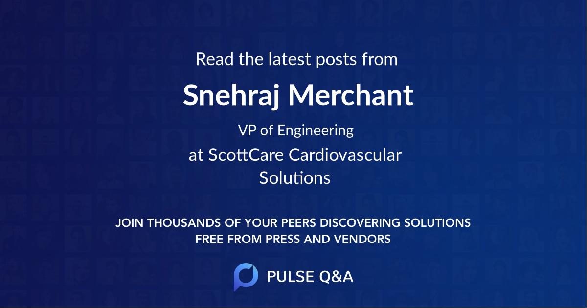 Snehraj Merchant