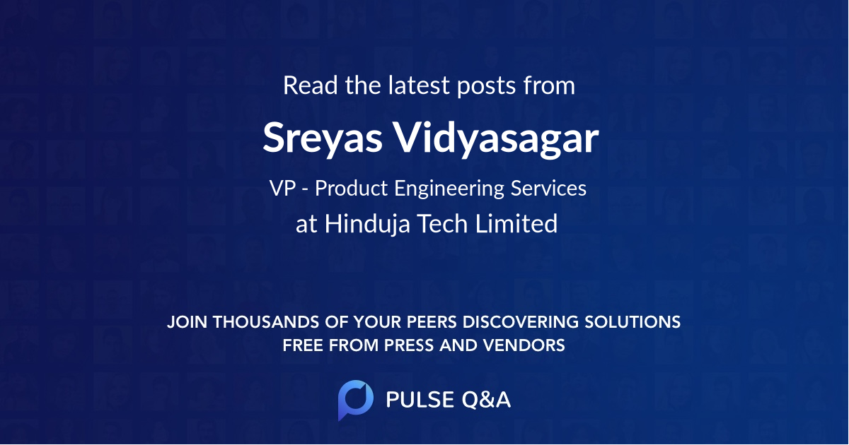 Sreyas Vidyasagar
