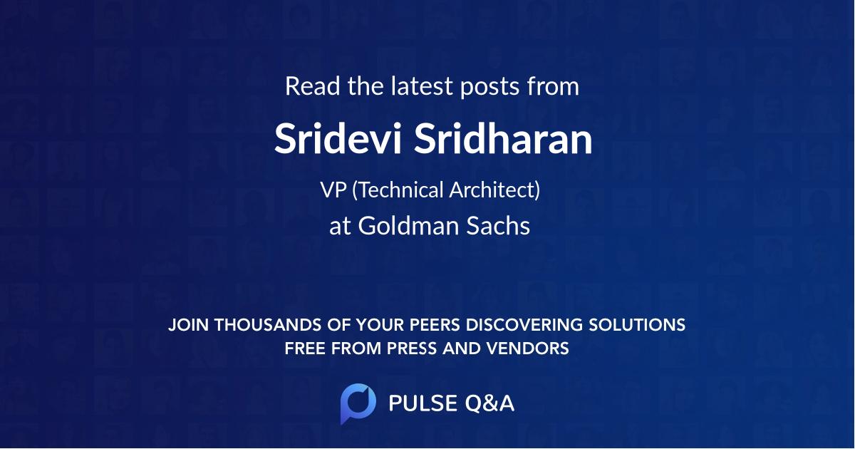 Sridevi Sridharan