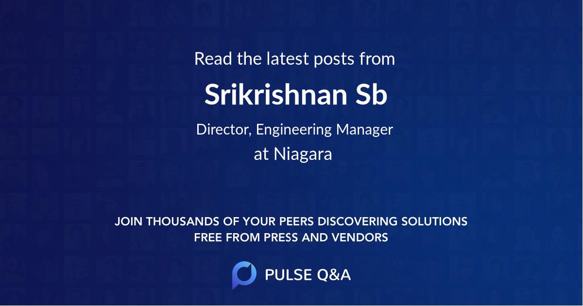 Srikrishnan Sb