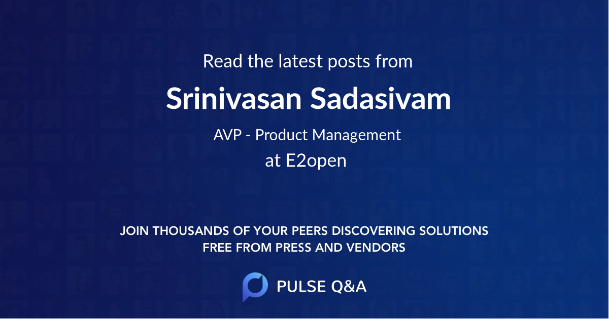 Srinivasan Sadasivam