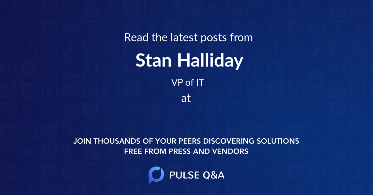 Stan Halliday