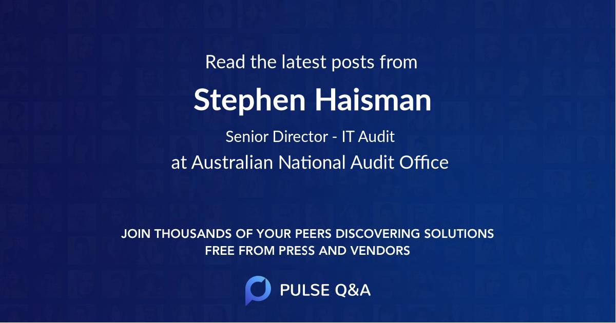 Stephen Haisman