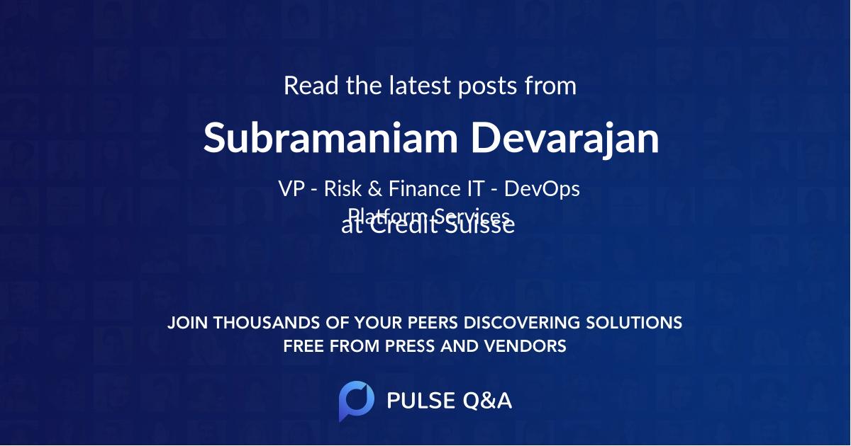 Subramaniam Devarajan