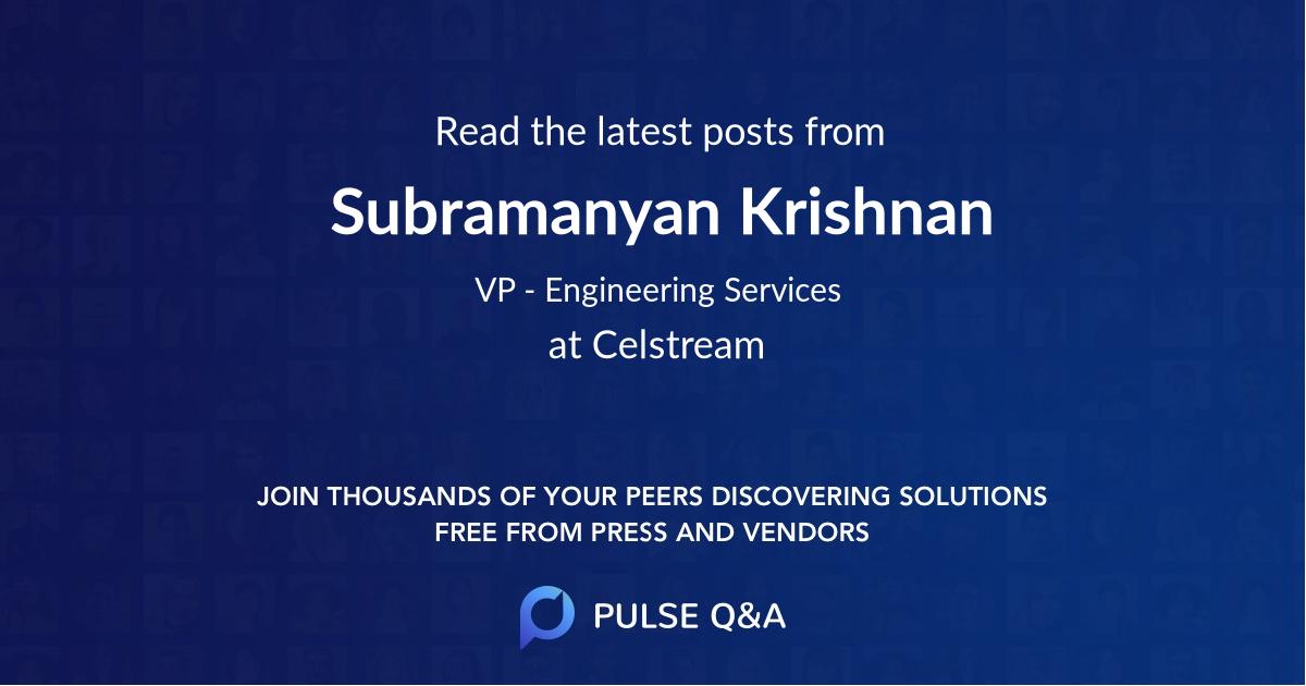 Subramanyan Krishnan