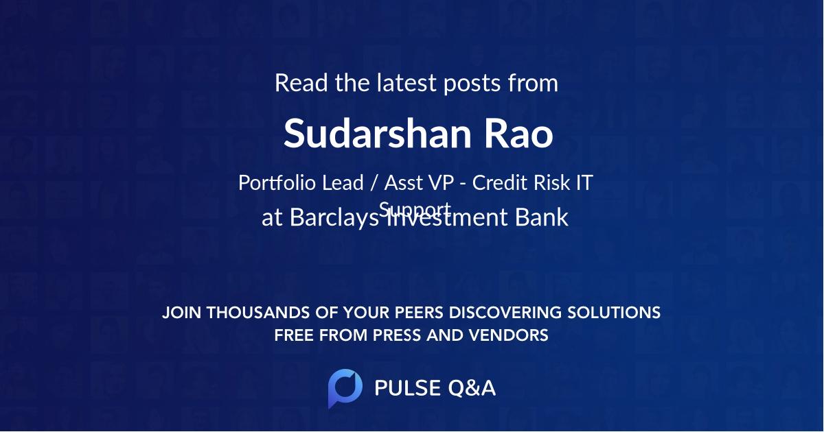 Sudarshan Rao
