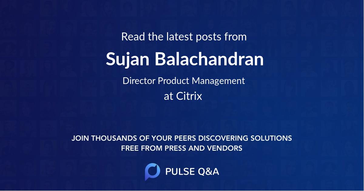 Sujan Balachandran
