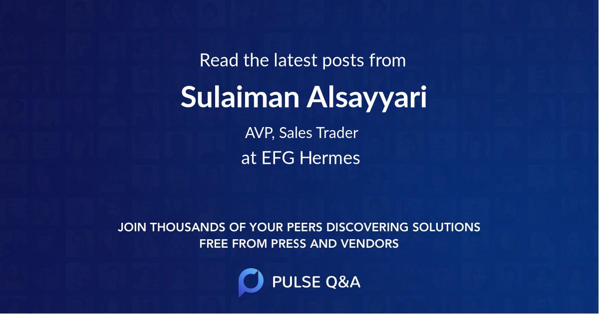 Sulaiman Alsayyari