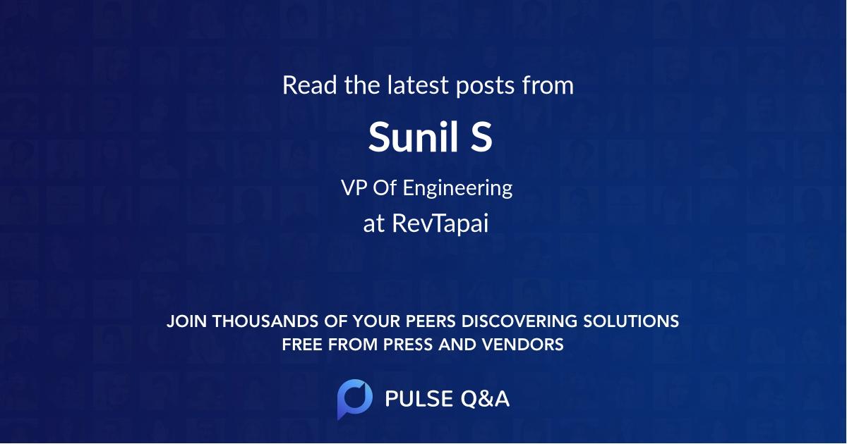 Sunil S