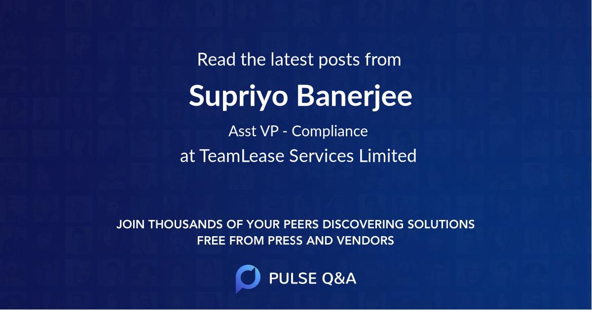 Supriyo Banerjee