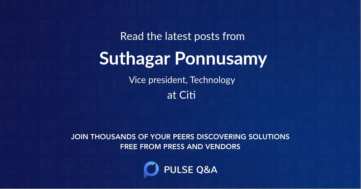 Suthagar Ponnusamy