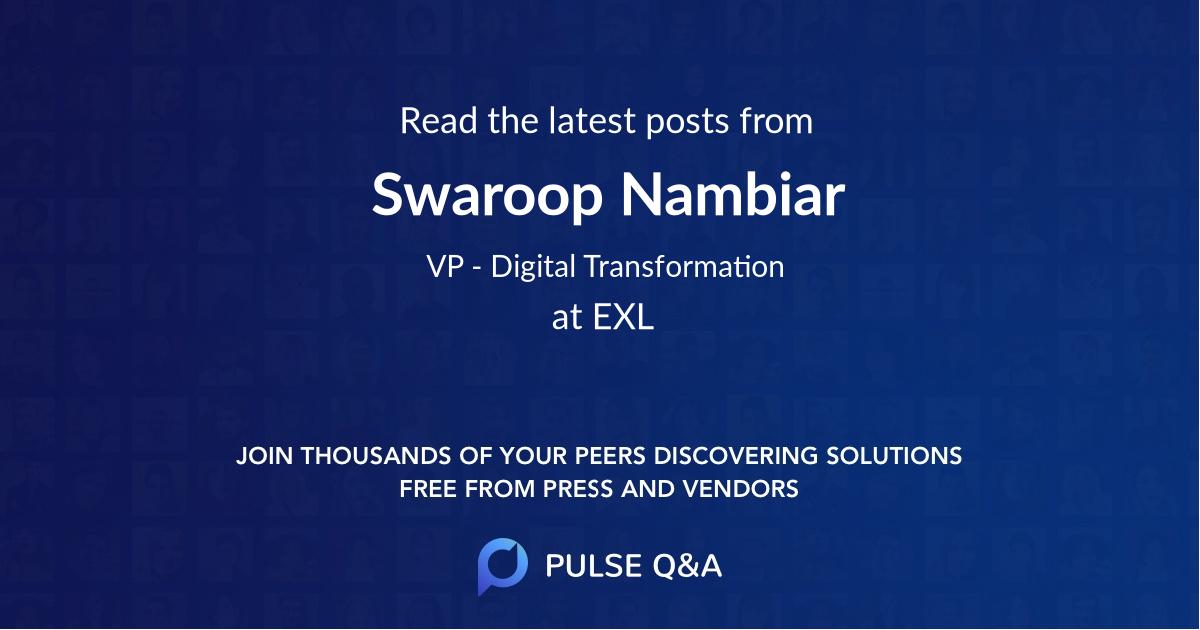 Swaroop Nambiar
