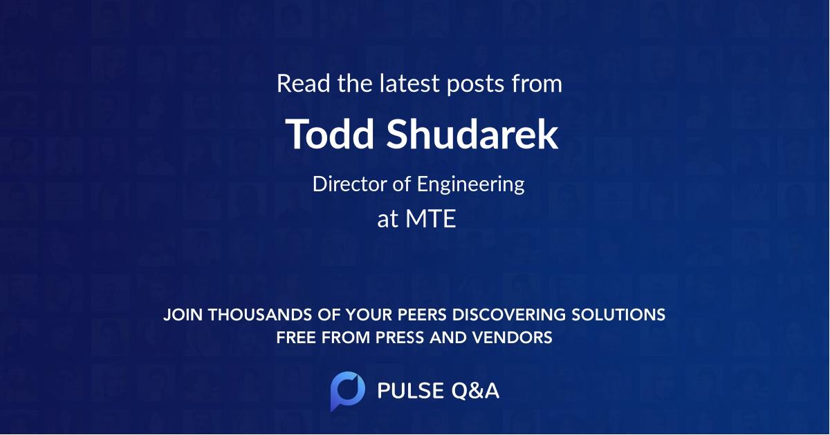 Todd Shudarek