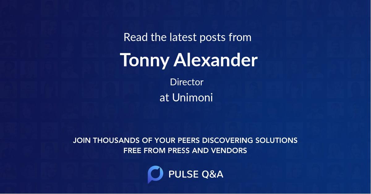 Tonny Alexander