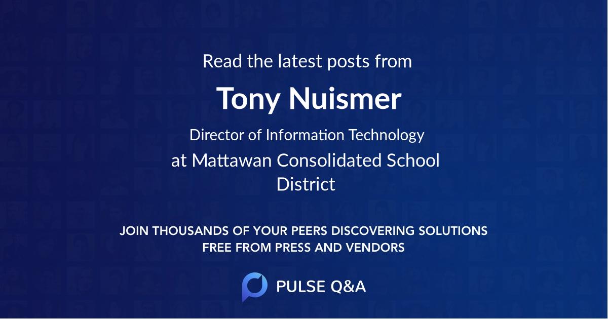 Tony Nuismer