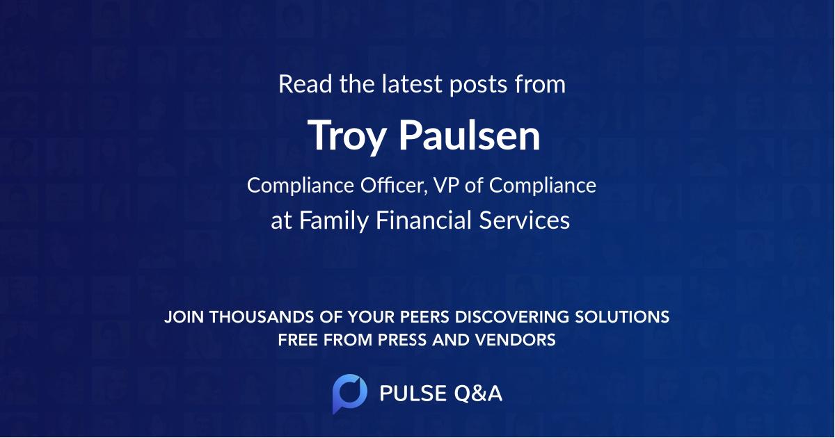 Troy Paulsen