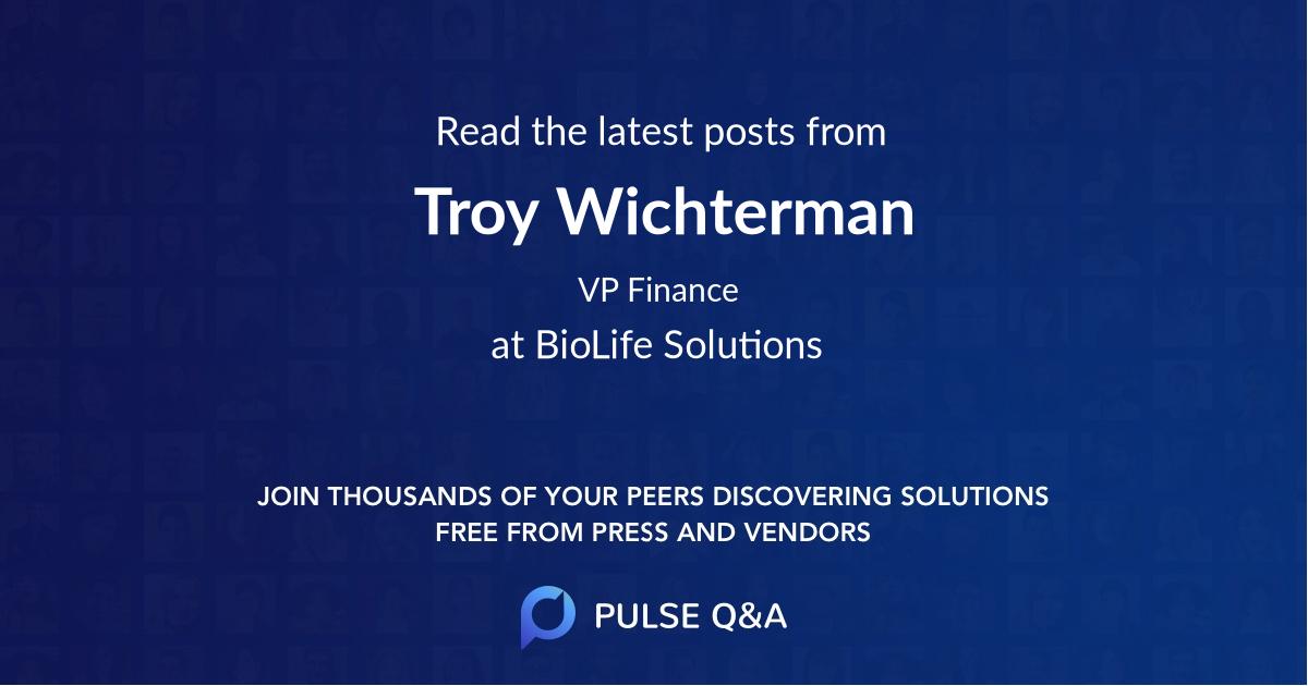 Troy Wichterman