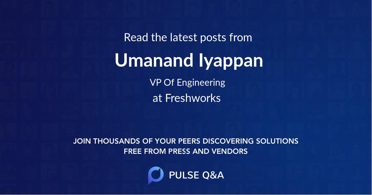 Umanand Iyappan