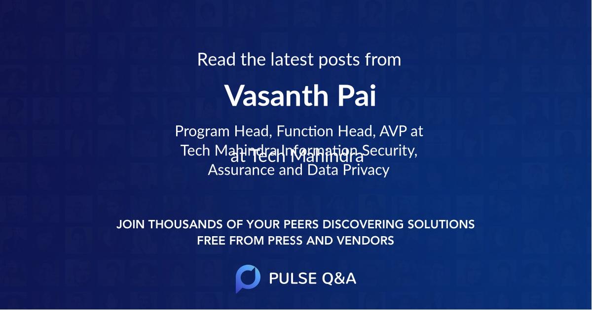 Vasanth Pai