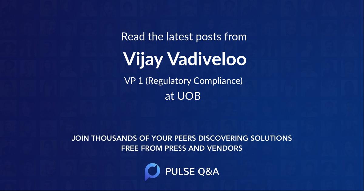 Vijay Vadiveloo