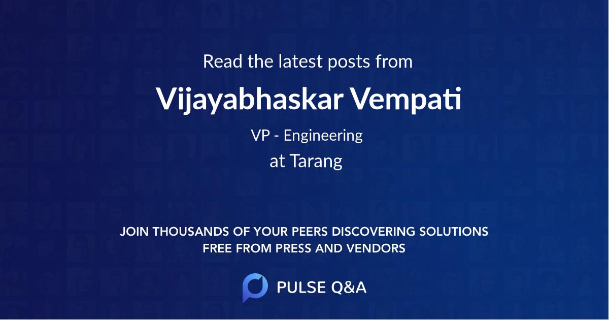 Vijayabhaskar Vempati