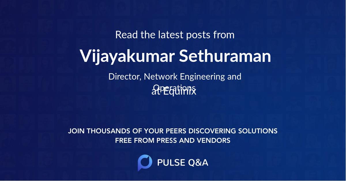 Vijayakumar Sethuraman