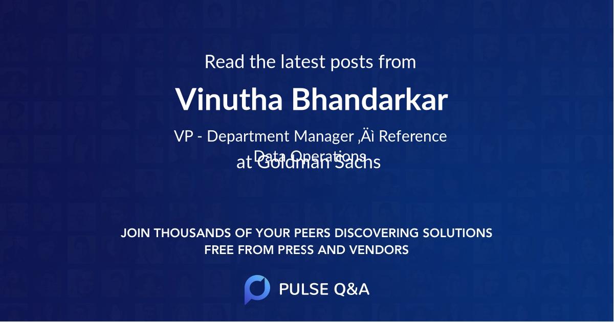 Vinutha Bhandarkar