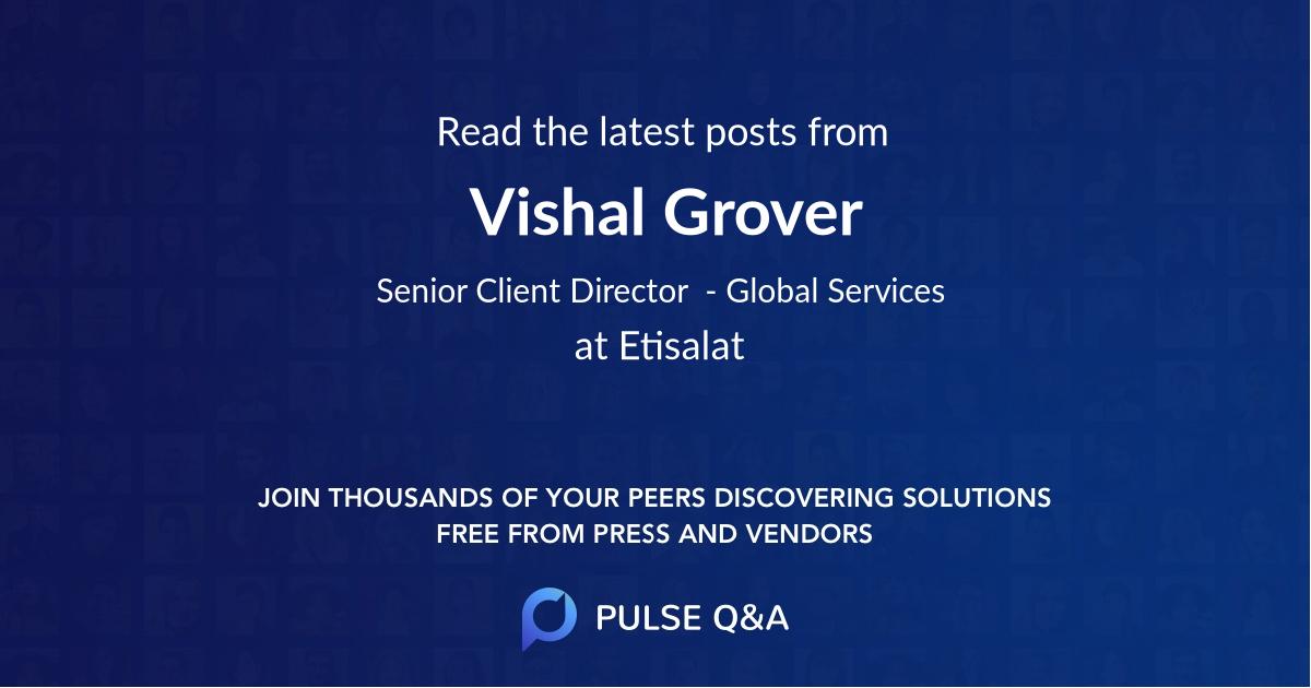 Vishal Grover