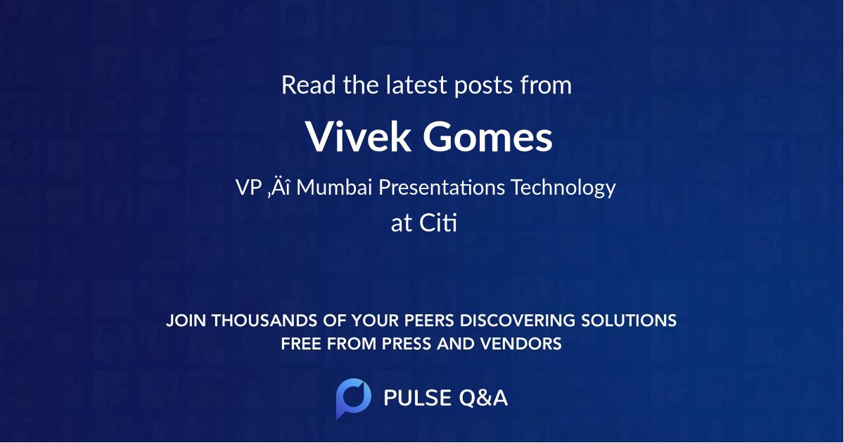 Vivek Gomes