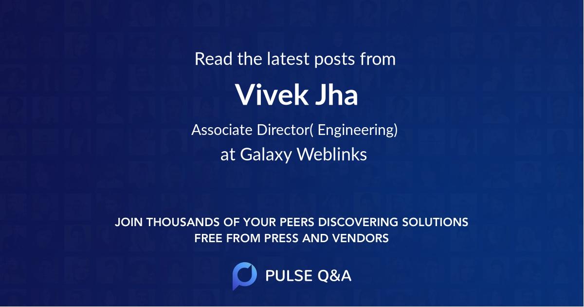 Vivek Jha