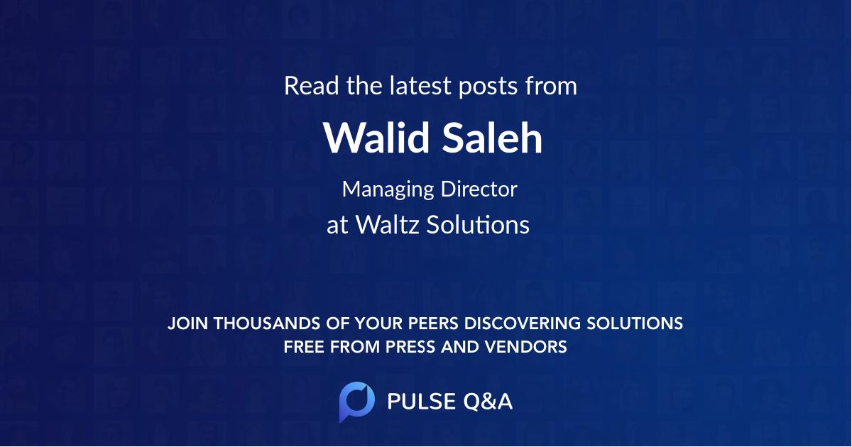 Walid Saleh