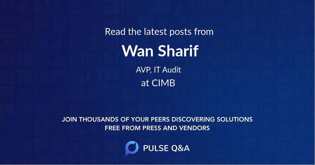 Wan Sharif