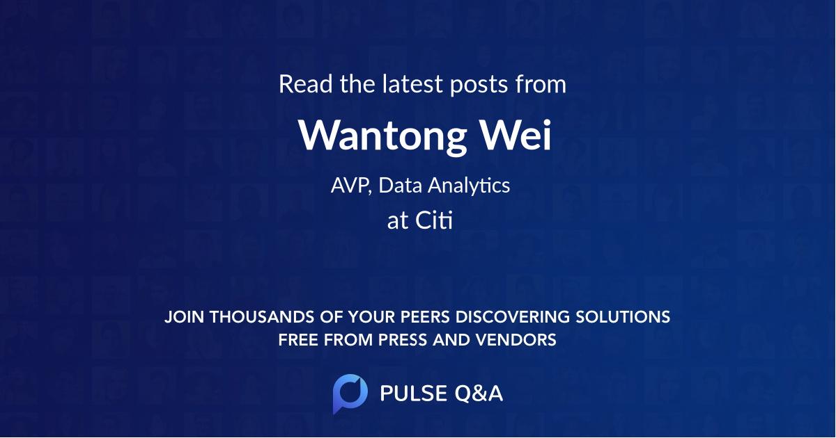 Wantong Wei