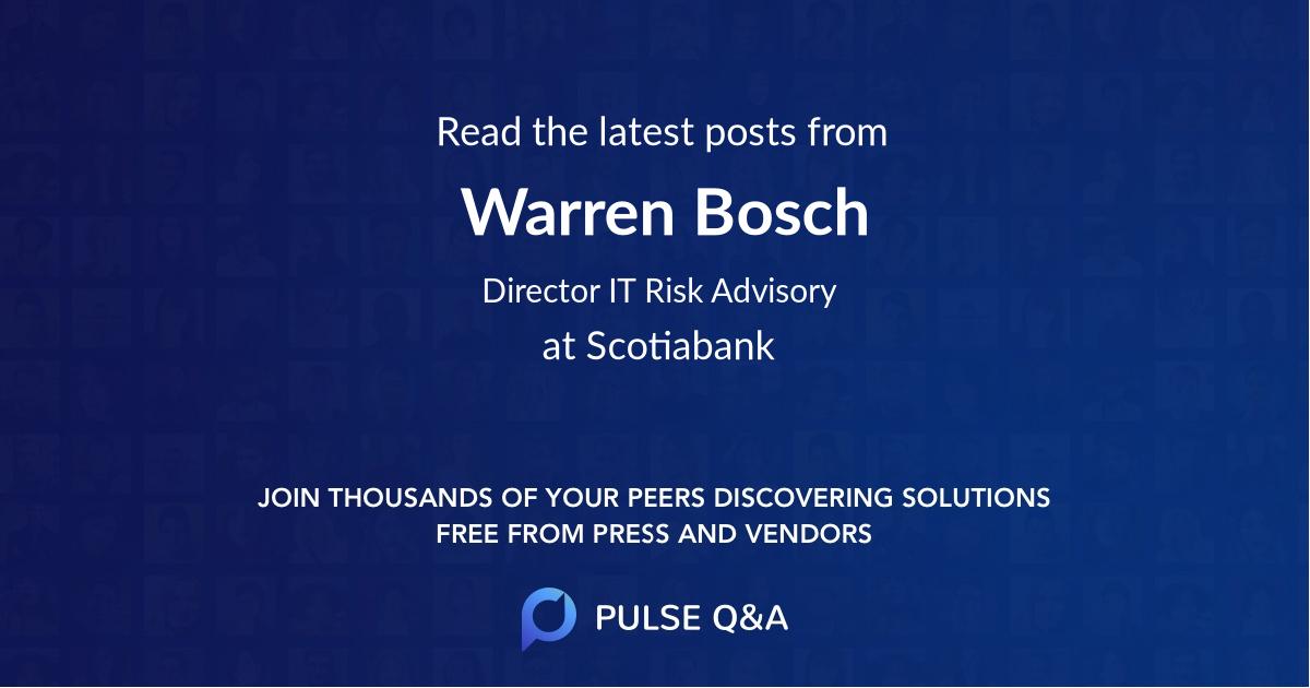 Warren Bosch