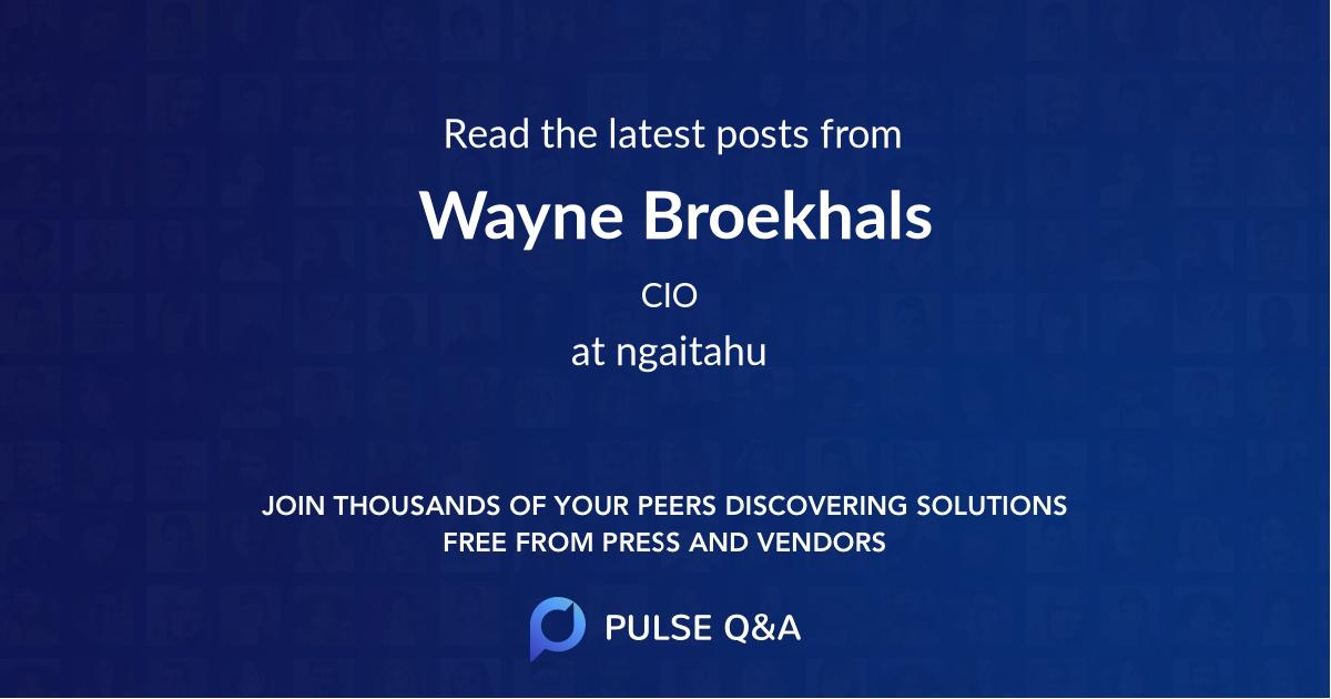 Wayne Broekhals