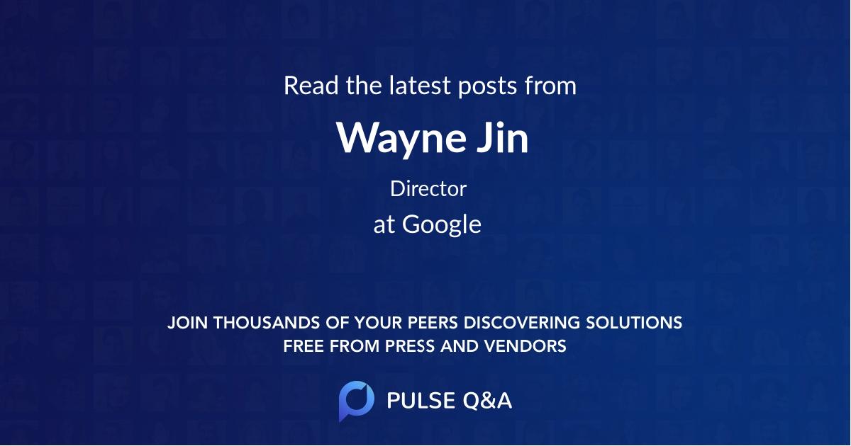 Wayne Jin